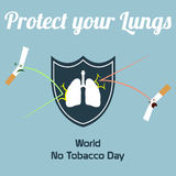 World no tobacco day celebation, sign for remembrance design illustration flat cute cartoon 31 may trend popular Stock Image
