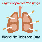 World no tobacco day celebation, sign for remembrance design illustration flat cute cartoon 31 may trend popular Stock Photography