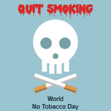 World no tobacco day celebation, sign for remembrance design illustration flat cute cartoon 31 may trend popular Royalty Free Stock Image