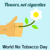 World no tobacco day celebation, sign for remembrance design illustration flat cute cartoon 31 may trend popular Stock Photos