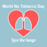 World no tobacco day celebation, sign for remembrance design illustration flat cute cartoon 31 may trend popular Stock Images