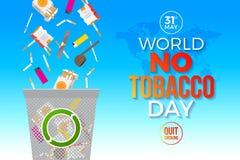 World no tobacco day - concept illustration.  Stock Photos