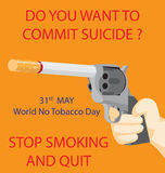 World No Tobacco Day Stock Photos