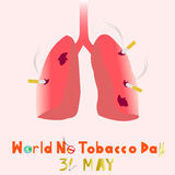World No Tobacco Day. 31 MAY all year.. illustration. Stock Photos