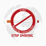 World No Tobacco Day for stop smoking Royalty Free Stock Photos