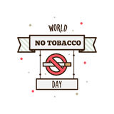 World No Tobacco Day. Vector illustration. World No Tobacco Day. Label.  Vector illustration Royalty Free Stock Images