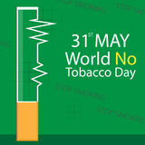 World No Tobacco Day vector Stock Photography