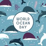World ocean day. Element of image furnished by NASA Royalty Free Stock Photography