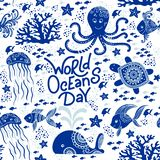 World Ocean Day vector illustration