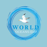 World oceans day Royalty Free Stock Photo