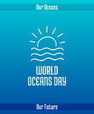 World Oceans Day Royalty Free Stock Photos
