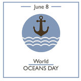 World Oceans Day, June 8 Royalty Free Stock Photography