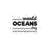 World Oceans Day. Vector illustration. Stock Photo