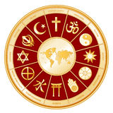 World Of Faith, Religions, Globe Map Stock Images