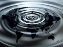 World oil. 3d image of world oil Stock Image
