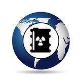 World oil industry consumption nuclear barrel Royalty Free Stock Photography