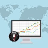 World oil prices design Royalty Free Stock Images