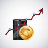 World oil prices design Stock Photography