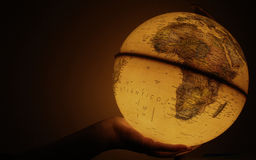 The world on one hand Royalty Free Stock Image