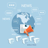 World online cloud documentation concept global paperwork Stock Images