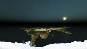The world and open horizon Stock Image