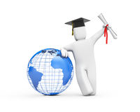The world is opened for you. Graduate. Royalty Free Stock Photography