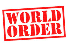 WORLD ORDER. Red Rubber Stamp over a white background Royalty Free Stock Photo