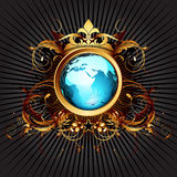 World with ornate Royalty Free Stock Photography