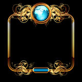 World with ornate Royalty Free Stock Photos