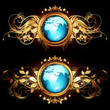 World with ornate Stock Photo