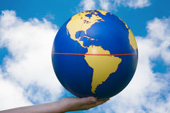 The world in our hands Royalty Free Stock Image