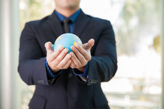 The world is in our hands Royalty Free Stock Photography