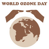 World Ozone Day.Vector illustration Royalty Free Stock Photography