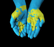 World painted hands Stock Photos