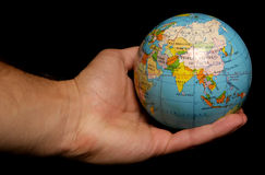 World in the palm of your hand Royalty Free Stock Image
