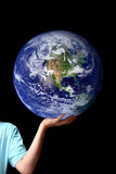 World in the palm of your hands - planet earth Royalty Free Stock Photo