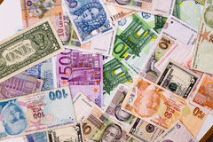World Paper Money background Royalty Free Stock Images