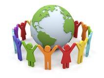 World partnership. 3d image isolated on white background Stock Photos