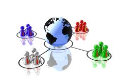 World partnership 3d illustration Stock Photos
