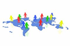 World partnership. 3d illustration isolated in white background Stock Images