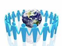 World partnership. 3d illustration isolated in white background Royalty Free Stock Photography