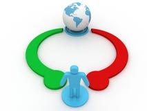 World partnership Stock Image