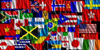World of the Patriotic. This is a flag illustration of layered world flags from around the world Royalty Free Stock Images