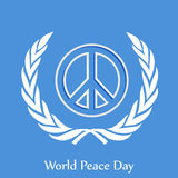 World Peace Day background. Illustration of elements for world peace day Royalty Free Stock Photos