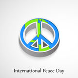 World Peace Day background. Illustration of elements for world peace day Stock Photo