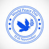 World Peace Day background. Illustration of elements for world peace day Stock Photography
