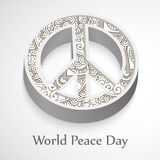 World Peace Day background. Illustration of elements for world peace day Stock Image