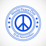 World Peace Day background. Illustration of elements for world peace day Stock Images
