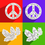 World Peace Day background. Illustration of elements for world peace day Stock Photos