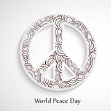 World Peace Day background. Illustration of elements for world peace day Royalty Free Stock Image
